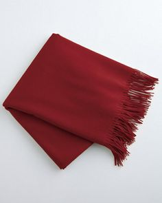 Crafted from the perfect blend of renewable natural fibers, this luxurious throw mixes wool with a touch of cashmere to create a design that's as soft as it is durable. Drapes so beautifully, you can wear it as a wrap.