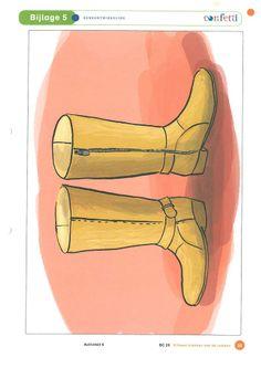 Soorten schoenen: laarzen.