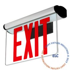 Edge Lit Exit Sign Adjustable Angle Green LED Surface Mount ELRTG Home Improvement Great Chance! Light Fixtures Bedroom Ceiling, Outdoor Light Fixtures, Pendant Light Fixtures, Emergency Exit Signs, Commercial Lighting Fixtures, Lighting Suppliers, Lighting Companies, Green Led, Lighting Sale
