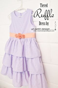 Tiered Ruffle Dress tutorial by Un Petit Design #sew #diy #tute #easter