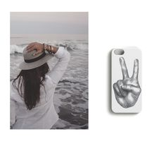 Married to the sea //Woodstock on Repeat iPhone case designed by Lotta Vanari.