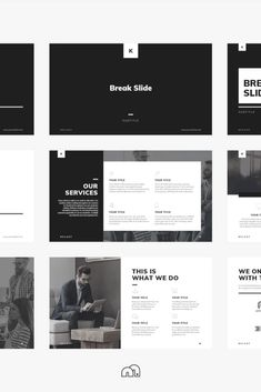 PowerPoint Template - Kelsey - For those looking for a professional presentation, 'Kelsey' offers a beautifully minimal design packed with a wealth of features. Presentation Deck, Business Powerpoint Presentation, Professional Presentation, Powerpoint Design Templates, Keynote Template, Booklet Design, Web Design, Graphic Design, Web Minimalista
