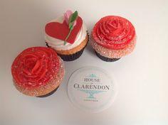 Valentine's Day cupcakes. So sweet! www.houseofclarendon.com