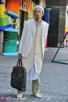 KENTA KUDEKEN  Shibuya, Tokyo  AUTUMN 2012, GUYS  Kjeld Duits  STUDENT, 25    Jacket – Jean Paul Gaultier  Vest – ASEEDONCLOUD  Pants – N/A  Shoes – Converse