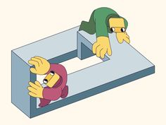 Twins in the loop by Teodor Hristov - Dribbble Isometric Design, Funny Cat Pictures, Funny Cats, Fun Funny, Digital Illustration, Bart Simpson, Twins, Animation, Fictional Characters