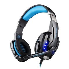 KOTION EACH G9000 3.5mm Gaming Headset Headband Game Headphones with Mic LED Light for PC Laptop Phones Phones/Xbox ONE/PS4