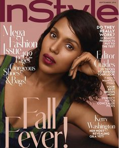 Kerry Washington Is Naturally Gorgeous For INSTYLE's September Issue, Talks Social Media Hiatus, FOMO Struggles, & Taking Parenting Notes…