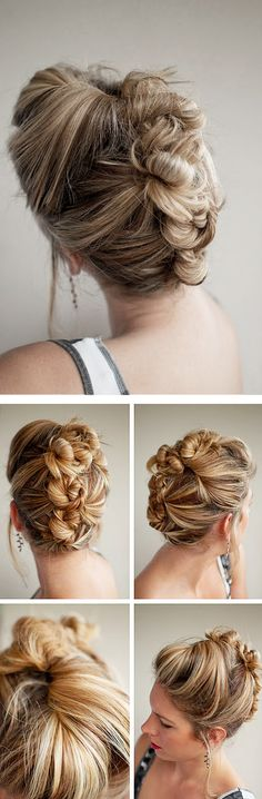 Bun mohawk...like the twist and pin french roll, just with a bit more punk.