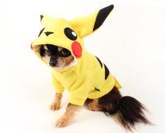 Perro disfraz pikachu perro traje Halloween por PetitDogApparel