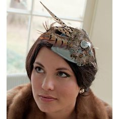 The perfect fascinator for the woman who is classy and fun. This is from the Olive and Jane Soiree Collection.