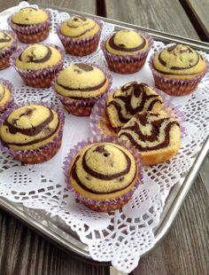 За хората и пиците: Двуцветни кексчета