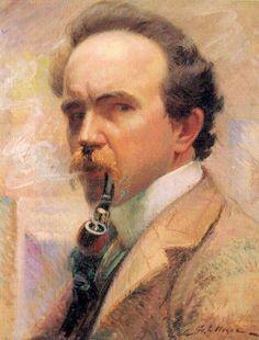 Georges Noyes. Self portrait.