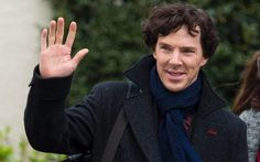 Benedict Cumberbatch enthusiastically supports Wales Euro 2016 team in video posted from Sherlock set