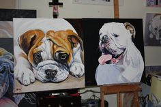 double your pleasure-order 2 dog paintings