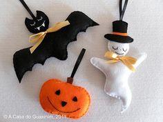 Halloween Christmas Tree, Dulceros Halloween, Halloween Karneval, Halloween Headband, Halloween Ornaments, Felt Ornaments, Holidays Halloween, Manualidades Halloween, Adornos Halloween