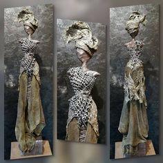 Victoria Human Sculpture, Sculpture Metal, African Dolls, African Art, Plaster Art, Texture Art, Pottery Art, Paper Dolls, Decoration