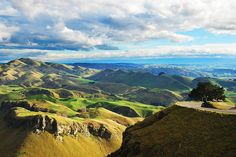 View from Te Mata Peak, Havelock North, Hawke's Bay, New Zealand - by olganz Havelock North, New Zealand, River, Mountains, Nature, Outdoor, Outdoors, Naturaleza, Outdoor Games