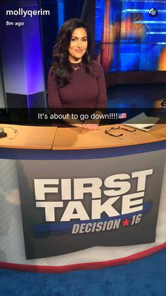 Molly Qerim in First Take