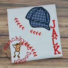 Baseball Hat Number Applique Set - 3 Sizes! | What's New | Machine Embroidery Designs | SWAKembroidery.com Munchkyms Design