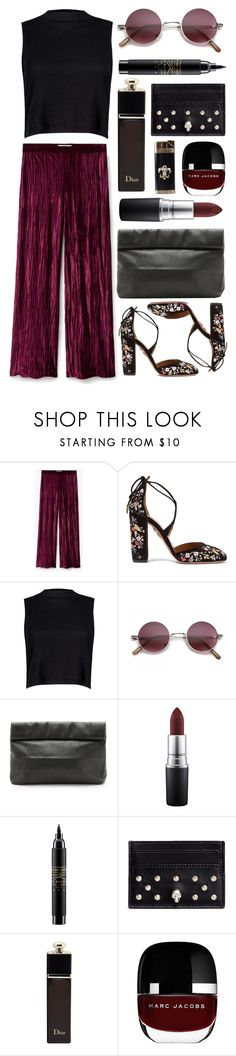"""""""Untitled #707"""" by clary94 ❤ liked on Polyvore featuring MANGO, Aquazzura, Boohoo, Marie Turnor, MAC Cosmetics, Alexander McQueen, Christian Dior and Marc Jacobs"""