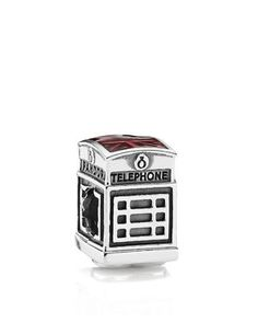 Pandora Charm - Sterling Silver & Enamel London Calling, Moments Collection