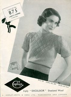 A great range of World War 2 and knitted clothes for servicemen and the the people at home. knitted underwear, bathing costumes, ladies and gents fashions, comforts for servicemen and even toys Vintage Patterns, Knitting Patterns, Crochet Patterns, Gents Fashion, Knit Fashion, Crochet Cardigan, Knit Crochet, Vintage Outfits, Vintage Fashion