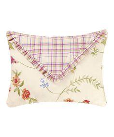 Another great find on #zulily! Red Pattern & Flower Rectangular Pillow #zulilyfinds
