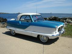 Nash Metropolitan - My first husband and I had 3 of these! Ours were black and white. That was in 1969.