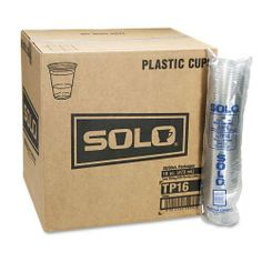 SOLO® Cup Company Plastic Party Cold Cups, 16 Ounces, Clear, 20 Packs of 50 Cups, 1000/Carton by SOLO® Cup Company. $98.62. SOLO® Cup Company Plastic Party Cold Cups, 16 Ounces, Clear, 20 Packs of 50 Cups, 1000/CartonDurable cups are ideal for everyday use and parties. Global Product Type: Cups-Cold; Cup Type: Cold; Capacity (Volume): 16.000 oz; Material(s): Plastic.SKU: SLOTP16CT - Sold as 1000 EA
