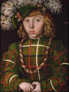 Portrait of Johann Friederich I the Magnanimous, Elector of Saxony by Lucas Cranach the Elder, 1509, oil on panel. National Gallery, London, UK.
