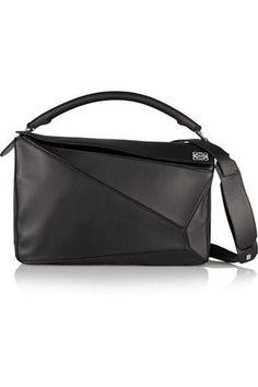Puzzle large leather shoulder bag #shoulderbag #women #covetme #loewe