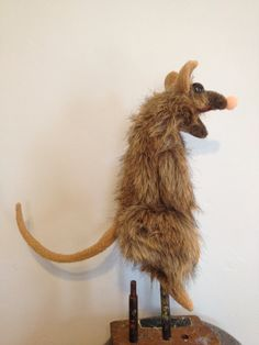 A PUPPET A DAY Large Rat hand puppet by apuppetaday on Etsy