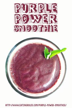 This Purple Power Smoothie got me through October #Unprocessed. Click through to learn the secret ingredient!