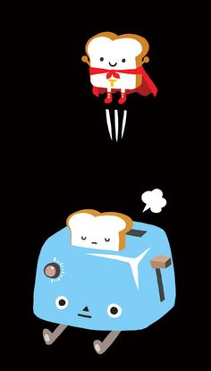 supertoast! Cute illustration