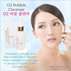 NLIGHTEN BUBBLE CLEANSER 버블 클렌저) cleans, hydrates and rejuvenates the skin with the revolutionary skin care technology of oxygen therapy. Nlighten Products, Skin So Soft, Korean Beauty, Beauty Care, Whitening, Cleanser, Your Skin, Facial, Bubbles