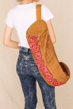 Sweet ... Yoga Mat Bag Eco Friendly 100 percents hemp. $38.00, via Etsy.