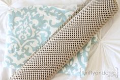 Thrifty and Chic: Fabric Rug Tutorial