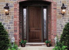 Pella Architect Series Entry Doors - Really like this front door, but would have a different sidelight pattern.
