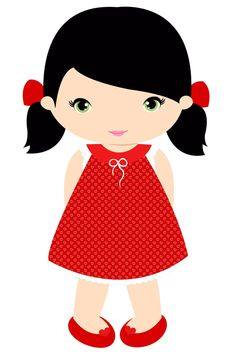 Minus - Say Hello! Little girl clip art Cartoon Pics, Girl Cartoon, Cute Cartoon, Cute Images, Cute Pictures, Girls Clips, Cute Characters, Cute Dolls, Cute Illustration