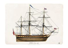 """""""HMS Dido""""British Royal Navy Ship 28 gun, sixth rate wooden Enterprise-class frigate built at Chatham in 1787. She served in the British Royal Navy until 1817"""