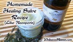 Homemade Healing Salve Recipe Like Neosporin but more effective and all natural Homemade Healing Salve