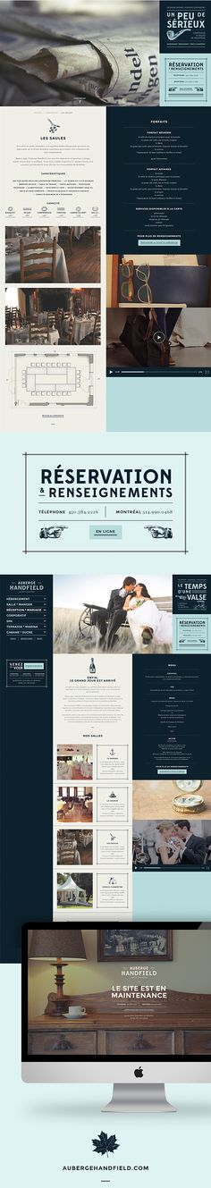 love the grid and the typography, i think it's gorgeous! #webdesign - Auberge Handfield by Carolane Godbout, via Behance