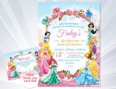 Disney princess invitation princess birthday invitation disney princess invitations princess birthday party invitations princess birthday party girl invitation disney princess invitation by abcsongshop on etsy stopboris Images
