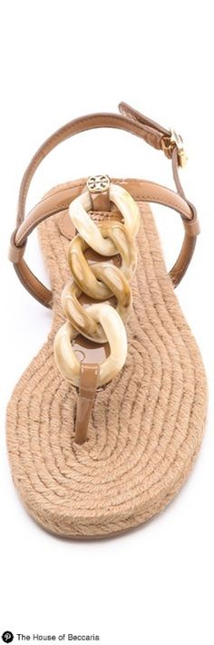 ~Tory Burch Rafia Thong Sandal | The House of Beccaria