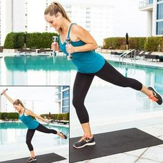 Balancing Punch Press: This multi-joint move sculpts your shoulders, upper back, and triceps while activating your abs