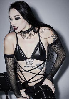 Black Bodysuit, Hot Goth Girls, Gothic Girls, Gothic Lingerie, Lingerie Set, Chica Fantasy, Cosplay, Gothic Mode, Manga Girl