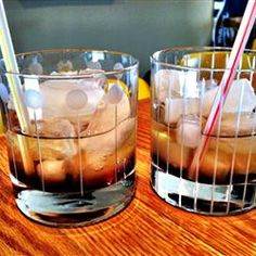Mind Eraser Allrecipes.com Layer: Kahlua, then vodka, then soda water. drink in one shot with straw at bottom