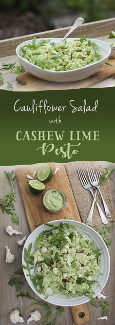 Vegan Cashew Lime Pesto - Cauliflower Salad by Trinity #vegan #dairyfree