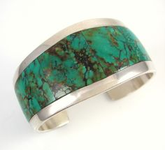 Native American Michael Garcia NA NA Ping Yaqui Turquoise Inlay Cuff Bracelet J | eBay