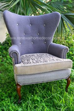 Vintage Wingback Chair Clean Coffee 7 SOLD by ReNewalHomeDecor, $1,200.00